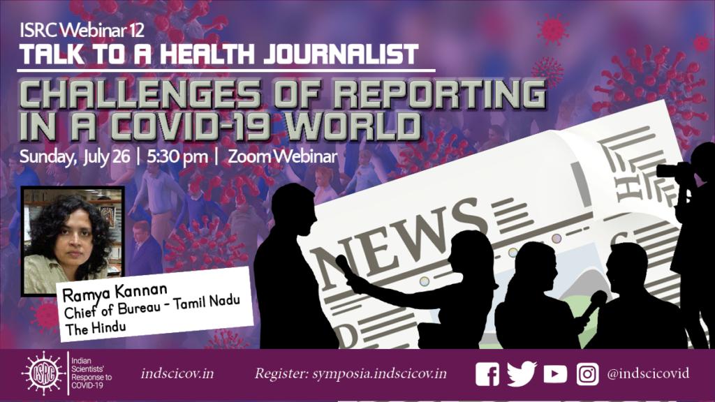 ISRC Webinar 12, July 26, Talk to a Health Journalist