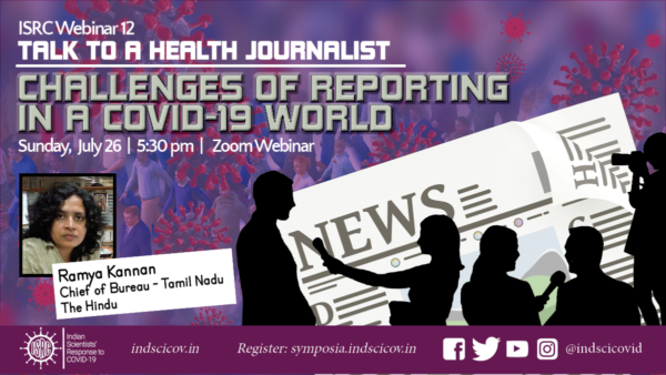ISRC Webinar 12, July 26, Talk to a Health Journalist