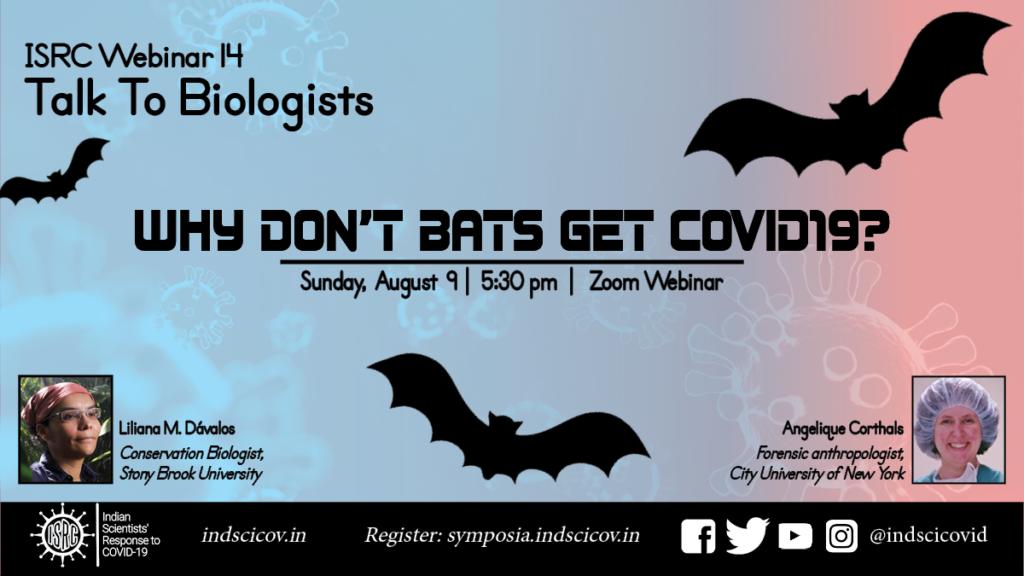 ISRC Webinar, Aug 9, Bats and Coronavirus